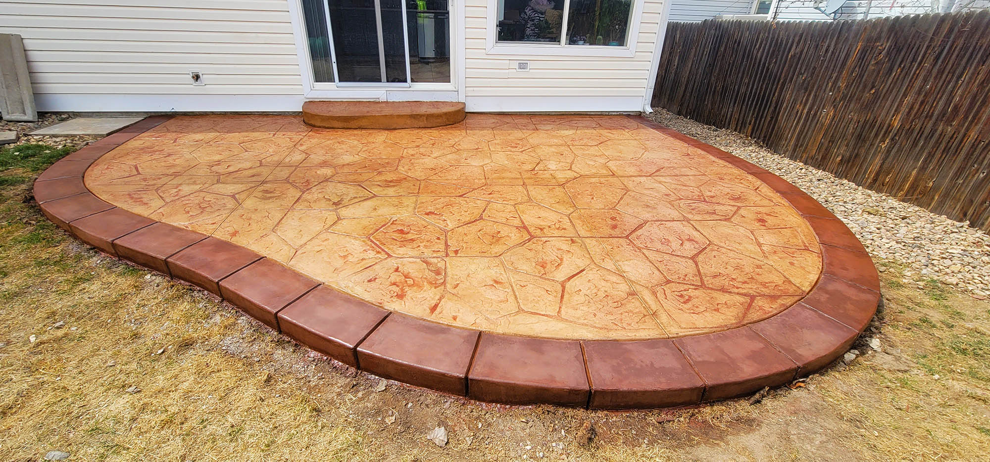 Green Valley, Denver CO stamped concrete patio