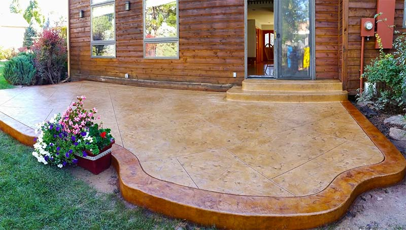 Stamped Concrete Patio, Littleton Co