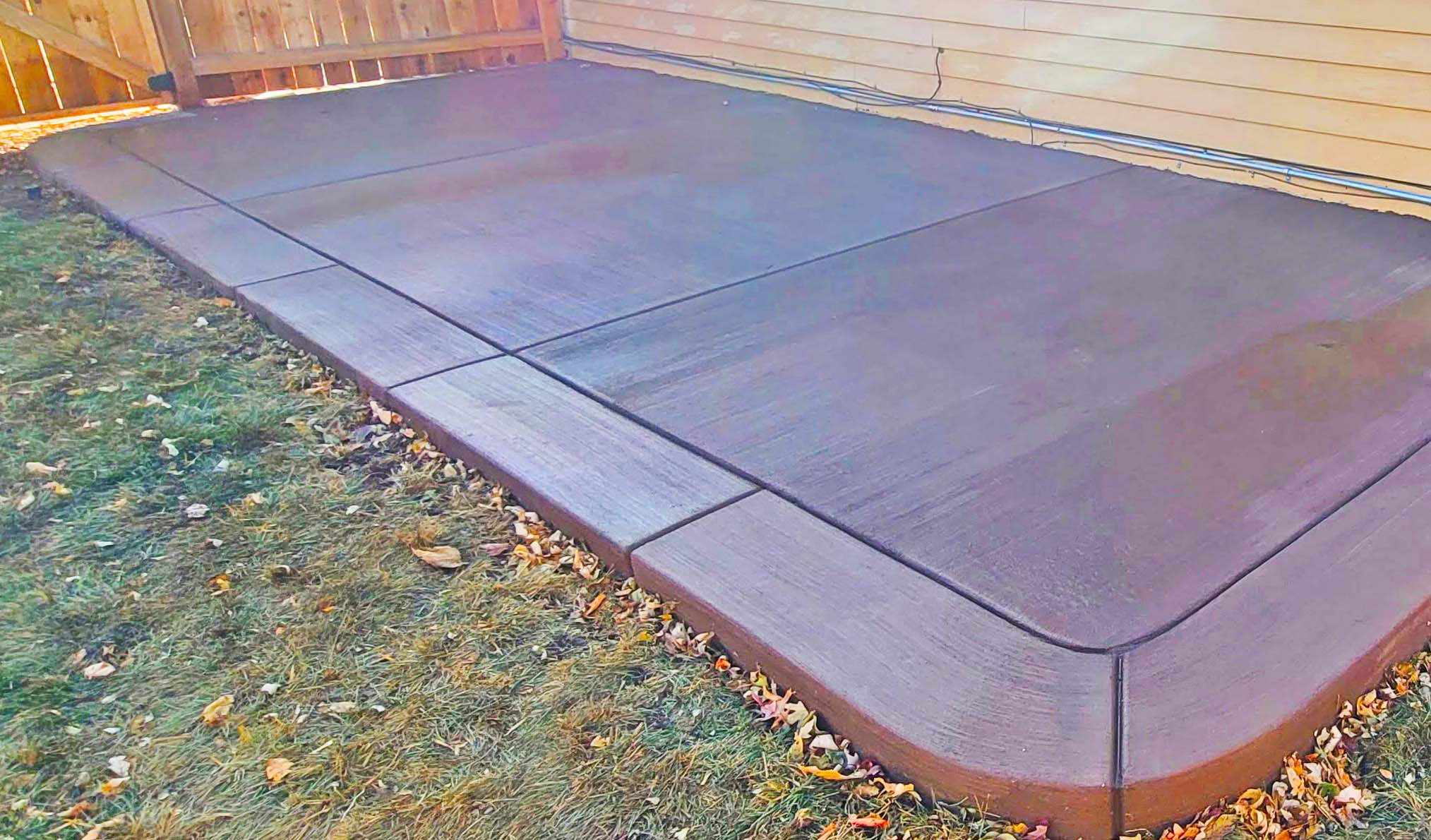 colored concrete patio completed by Denver Concrete Inc in wheatridge 80002